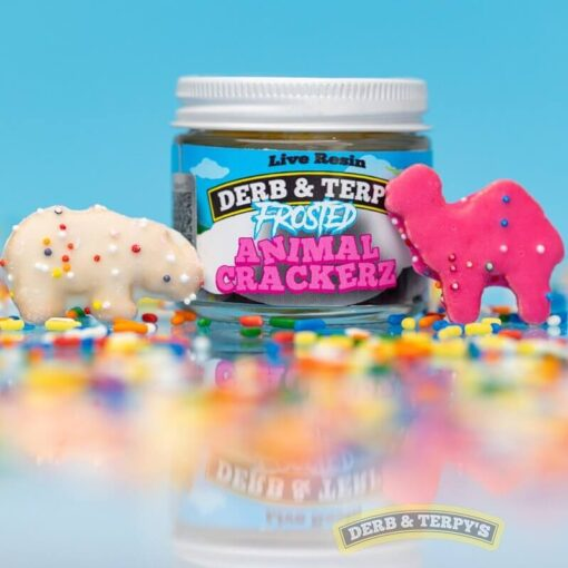 Derb and Terpys Frosted Animal Crackerz
